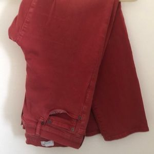 GAP Red Slim Straight Jeans Size 34/18